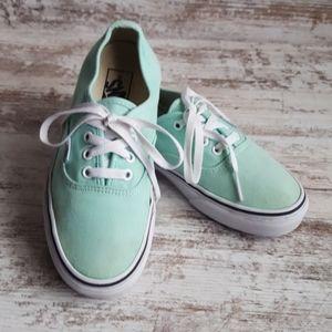 Size 6 VANS Mint Green Sneakers